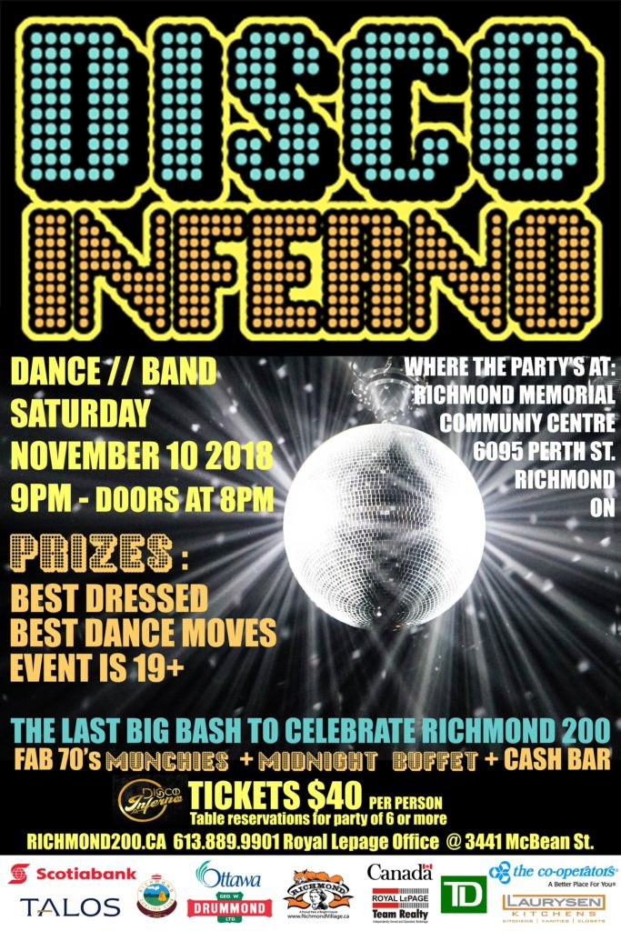 Disco Inferno Saturday November 10 2018 Richmond S